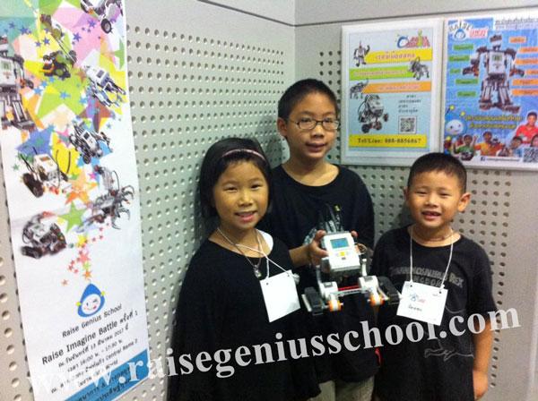 workshop ประดิษฐ์หุ่นยนต์ Lego Robot น้องๆทำงานเป็นทีมครับ
