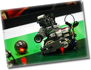 lego robot football