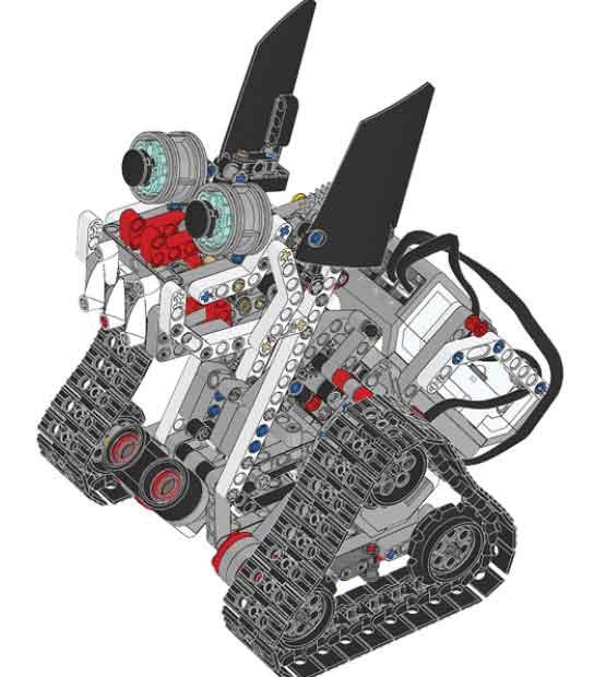 ตัวอย่างงาน znap ซึ่งใช้ชุด lego mindstorm ev3 expansion set ช่วยในการประดิษฐ์