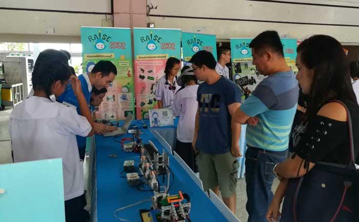เปิดบ้าน โรงเรียนนวมินทราชินูทิศ สตรีวิทยา พุทธมณฑล Raise Genius กิจกรรมหุ่นยนต์ web3